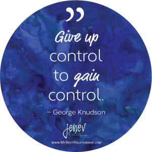 Give up control to gain control